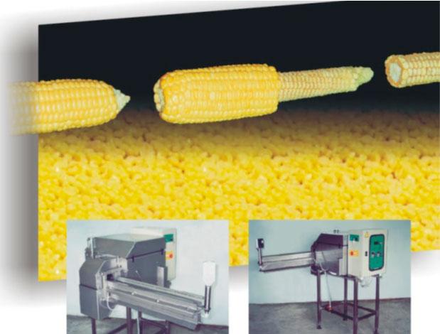 Машина для обрезки зерна кукурузы с початков