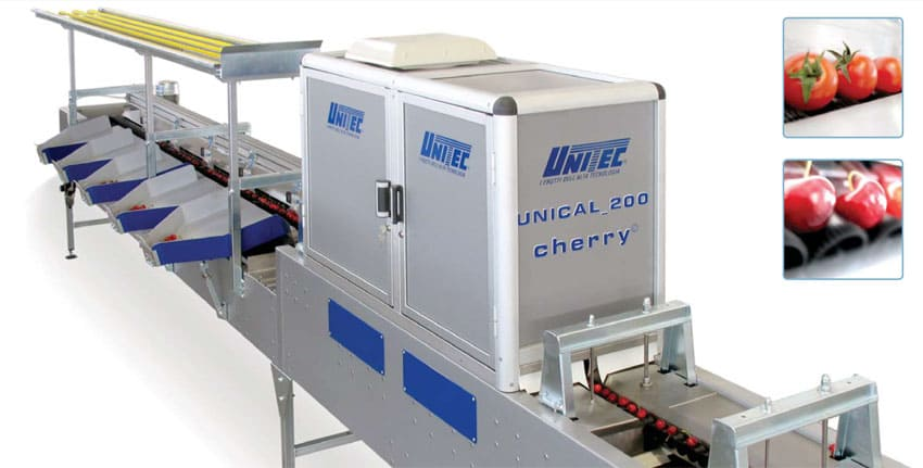 Линии и оборудование по сортировке, калибровке и перепродажной подготовке овощей и фруктов UNITEC (Италия)